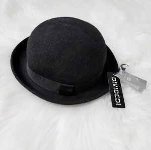 H&M Divided Wool Black Hat Round Bowler Fashion L